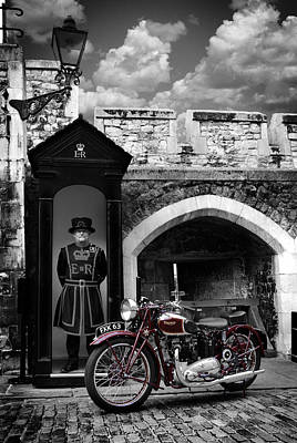 Tower Of London Photograph - Speed Twin At The Tower by Mark Rogan