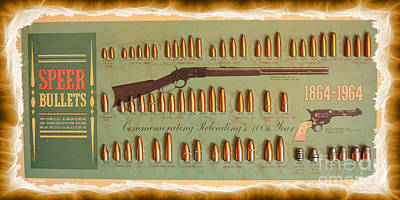 Speer Bullets Print by Cheryl Young