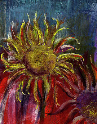 Sunflower Painting - Spent Sunflower by David Patterson