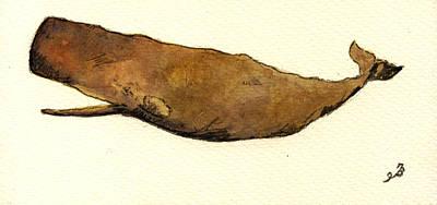 Sperm Whale Print by Juan  Bosco