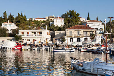 Habor Photograph - Spetses Island Old Harbour by Paul Cowan
