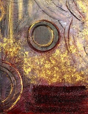 Abstracto Mixed Media - Spherical Romance Diptych Right by Holly Anderson