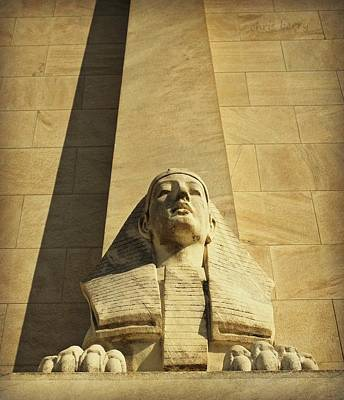 Marble Tomb-stones Photograph - Sphinx by Chris Berry