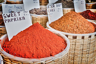 Spice Market Print by Delphimages Photo Creations