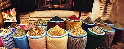Food Stores Photograph - Spice Market Inside The Medina by Panoramic Images