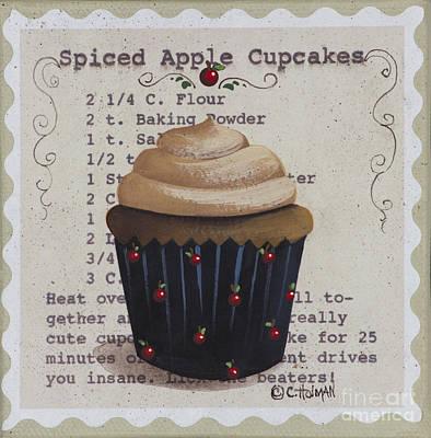 Spiced Apple Cupcake Print by Catherine Holman