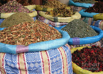 Spices At The Souk Print by Sophie Vigneault