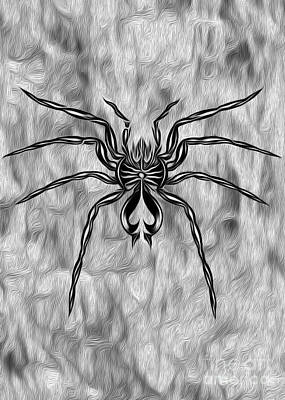 Spider Tatoo Print by Gregory Dyer