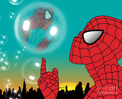 Caricature Digital Art - Spiderman 4 by Mark Ashkenazi