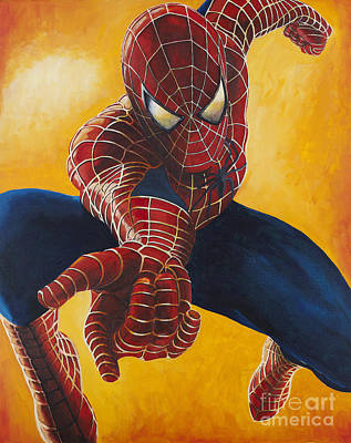 Spidey Painting - Spiderman by Gary Doak