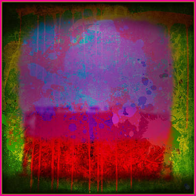 Spills And Drips Print by Gary Grayson