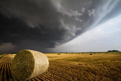 Prairie Storm Photograph - Spinning Gold by Sean Ramsey