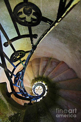 Rotate Photograph - Spinning Stairway by Carlos Caetano