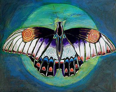 Spiral Butterfly II Original by Shira Chai