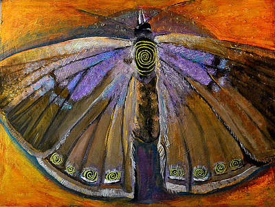 Spiral Butterfly Viii Original by Shira Chai