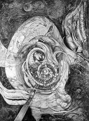 Visionary Art Drawing - Spiral Rapture 2 by Otto Rapp