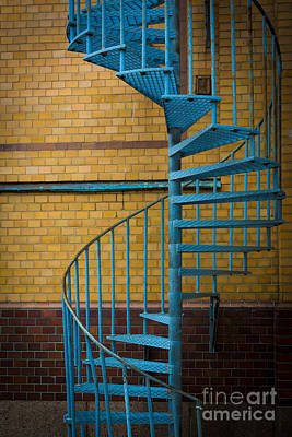 Brick Building Photograph - Spiral Staircase by Inge Johnsson