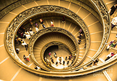 Spiral Staircase Print by Stefano Senise