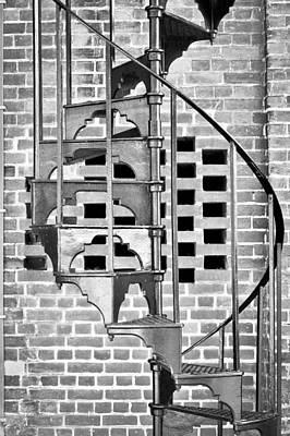 Spiral Staircase Print by Tom Gowanlock