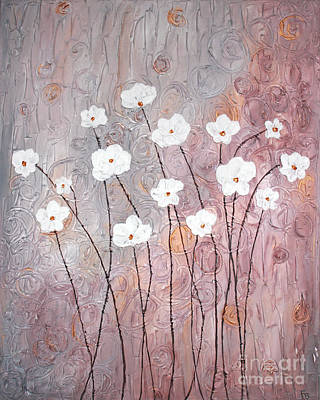 Painting - Spiral Whites by Home Art