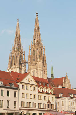 Spires Of St Peter's Cathedral Print by Michael Defreitas