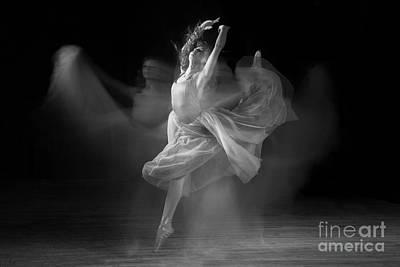 Spirit Dance In Black And White Print by Cindy Singleton