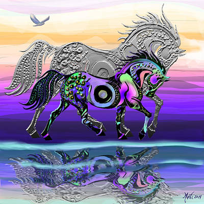 Prancing Digital Art - Spirit Horse by Michele  Avanti