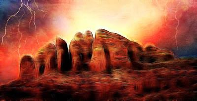 Spirit Mountain Print by Ellen Heaverlo