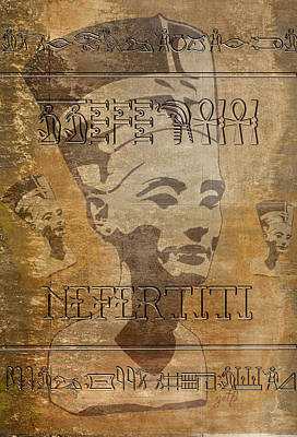 Spirit Of Nefertiti Egyptian Queen   Print by Georgeta Blanaru