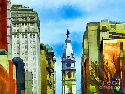 William Penn Digital Art - Spirit Of Philly by Robyn King