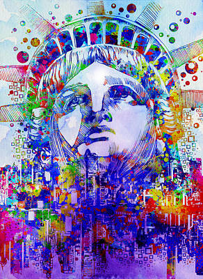 Statue Portrait Digital Art - Spirit Of The City 2 by Bekim Art