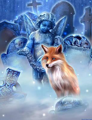 Spirit Of The Fox Print by Kerri Ann Crau