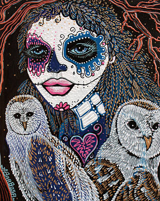 Belief Painting - Spirit Of The Owl by Laura Barbosa