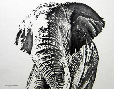 Blending Drawing - Spirit Of The Serengeti by Doug Comeau