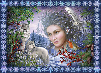 Gypsy Digital Art - Spirit Of Winter Variant I by Ciro Marchetti
