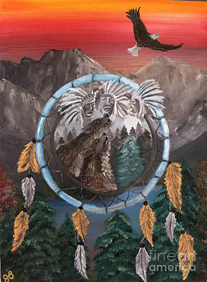 Spirit Catcher Painting - Spirits Of The Ancestors by Joy Borsavage