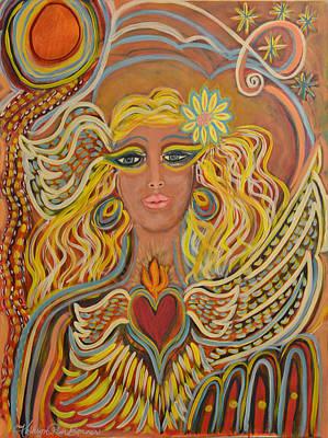 Spiritual Eyes  Print by Kathryn Bonner