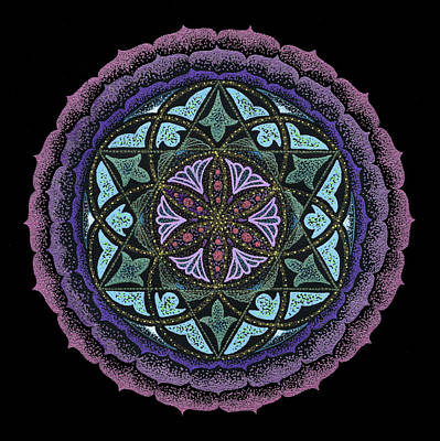 Chakra Rainbow Drawing - Spiritual Heart by Keiko Katsuta