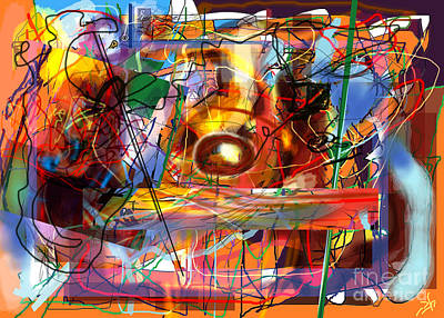 Tzaddik Digital Art - Spiritual Understanding 3 by David Baruch Wolk