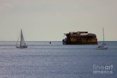 Spitbank Fort Martello Tower Print by Terri Waters
