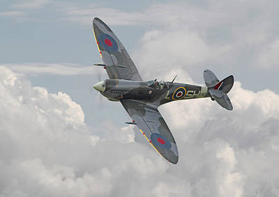 Spitfire - Elegant Icon Print by Pat Speirs