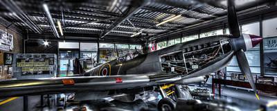 Cockpit Photograph - Spitfire Hanger Panorama by Ian Hufton