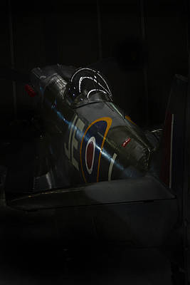 Spitfire Photograph - Spitfire In The Shadows  by Jason Green