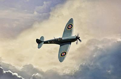 Merlin Digital Art - Spitfire Lf Mk by Peter Chilelli