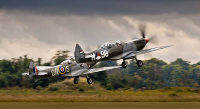 Airfield Photograph - Spitfire Parade by Alexis Birkill