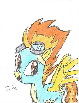 Pegasus Drawing - Spitfire by Rhapsody Forever