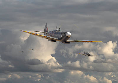 Spitfire - Strike Force Print by Pat Speirs