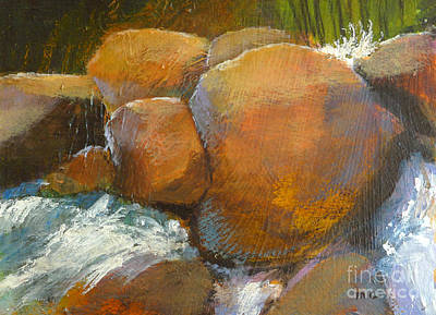 Waterscape Painting - Splash 2 by Melody Cleary