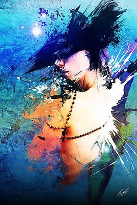 Splash Print by Aj Collyer