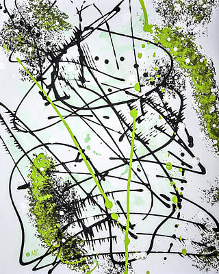 Acylic Painting - Splash Green by Melissa Smith